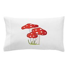 Polka Dot Mushrooms Pillow Case