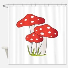 Polka Dot Mushrooms Shower Curtain