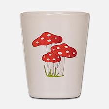 Polka Dot Mushrooms Shot Glass