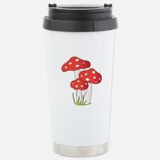Polka Dot Mushrooms Travel Mug