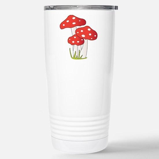 Polka Dot Mushrooms Travel Mug