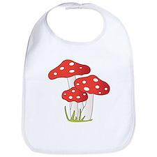 Polka Dot Mushrooms Bib