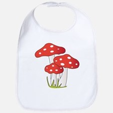 Polka Dot Mushrooms Bib