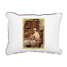 Afternoon Tea Rectangular Canvas Pillow