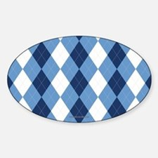 UNC Basketball Argyle Carolina Blue Bumper Stickers