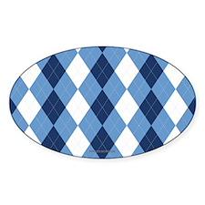 UNC Basketball Argyle Carolina Blue Stickers