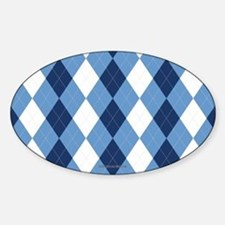 UNC Basketball Argyle Carolina Blue Stickers
