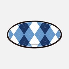 UNC Basketball Argyle Carolina Blue Patches