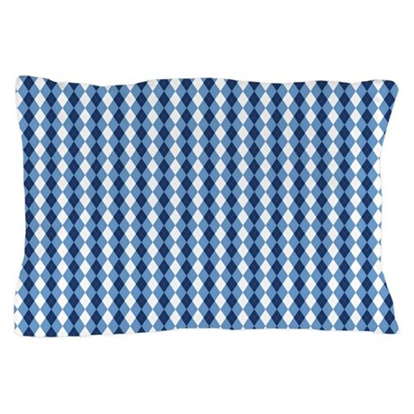 UNC Basketball Argyle Carolina Blue Pillow Case
