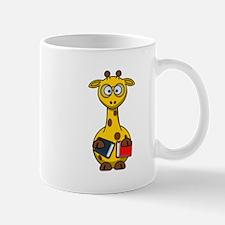 Book Worm Giraffe Cartoon Mugs