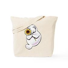 Sunny Manatee Tote Bag