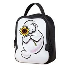 Sunny Manatee Neoprene Lunch Bag