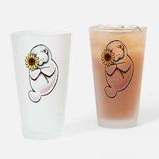 Sunny Manatee Drinking Glass