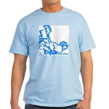 2 MEN PLAYING ON TABLE/BLUE/DO ME LIGHT T-Shirt