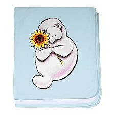 Sunny Manatee baby blanket