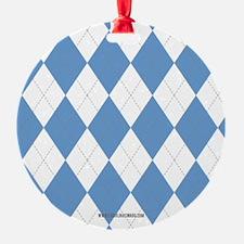 UNC Carolina Blue Argle Basketball Ornament