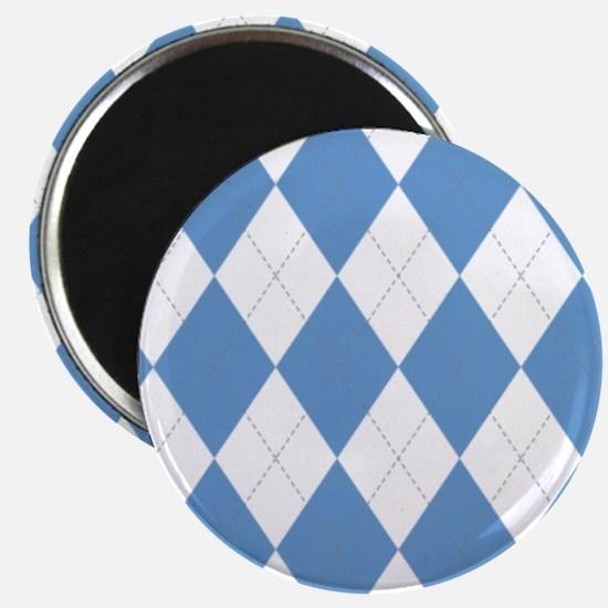 UNC Carolina Blue Argle Basketball Magnets