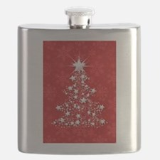 Sparkling Red Christmas Tree Flask