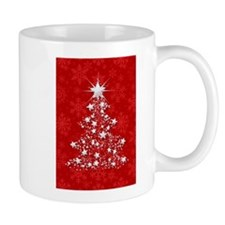 Sparkling Red Christmas Tree Mugs
