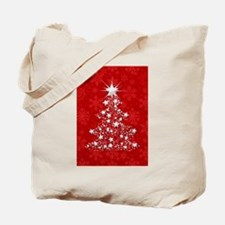 Sparkling Red Christmas Tree Tote Bag