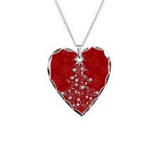 Sparkling Red Christmas Tree Necklace