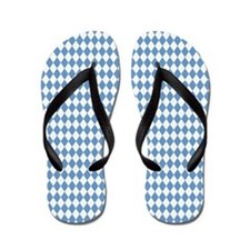 UNC Carolina Blue Argle Basketball Flip Flops