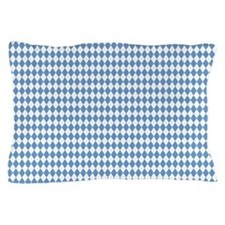 UNC Carolina Blue Argle Basketball Pillow Case