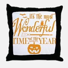 Most Wonderful (orange) Throw Pillow