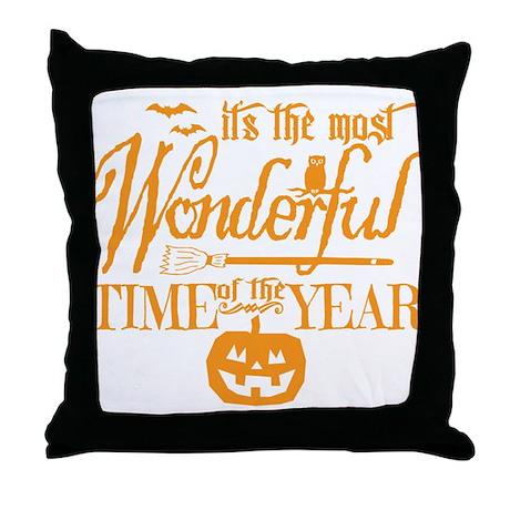 most wonderful orange throw pillow