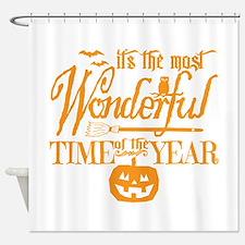 Most Wonderful (orange) Shower Curtain