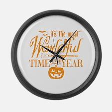 Most Wonderful (orange) Large Wall Clock