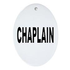 Chaplain Oval Ornament