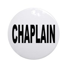 Chaplain Ornament (Round)