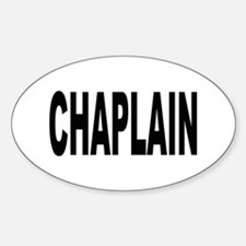 Chaplain Oval Decal