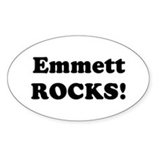 Emmett Rocks! Oval Decal