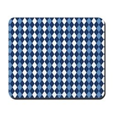 UNC Carolina Blue Basketball Argyle Mousepad