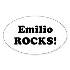 Emilio Rocks! Oval Decal