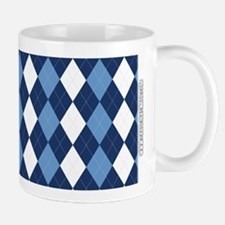 UNC Carolina Blue Basketball Argyle Mugs