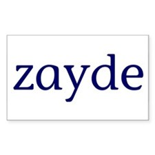 Zayde Rectangle Decal