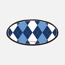 UNC Carolina Blue Basketball Argyle Patches