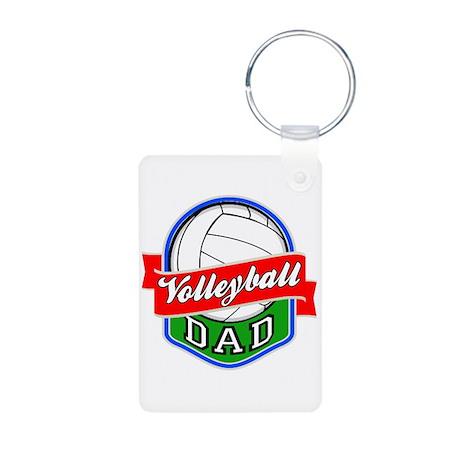 Volleyball Dad Aluminum Photo Keychain