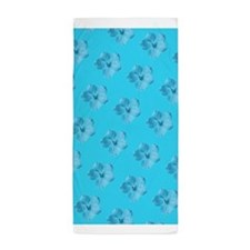 Turquoise Floral Menagerie for Andy 23 Beach Towel