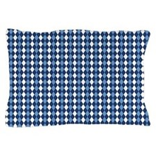 UNC Carolina Blue Basketball Argyle Pillow Case