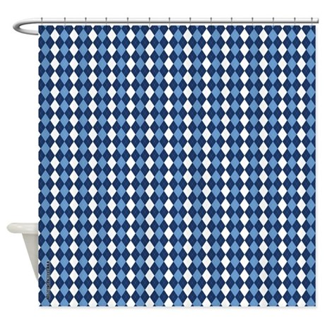 UNC Carolina Blue Basketball Argyle Shower Curtain
