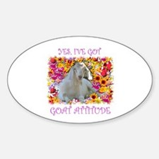 Goat Attitude! Oval Decal