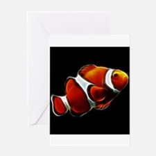 Orange Clownfish Tropical Clown Fish Greeting Card