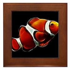 Orange Clownfish Tropical Clown Fish Framed Tile
