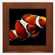 Orange Clownfish Tropical Clown Fish Framed Tile