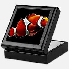 Orange Clownfish Tropical Clown Fish Keepsake Box