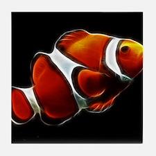 Orange Clownfish Tropical Clown Fish Tile Coaster